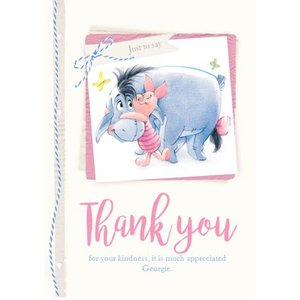 Winnie The Pooh - Thank You Card, Standard Size By Moonpig Wp650 St