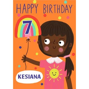 Yay Today Illustrated Happy 7th Birthday Card, Large Size By Moonpig Yto015 Lg