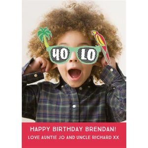 Yolo Sunglasses Birthday Photo Upload Card, Standard Size By Moonpig Pu1131 St