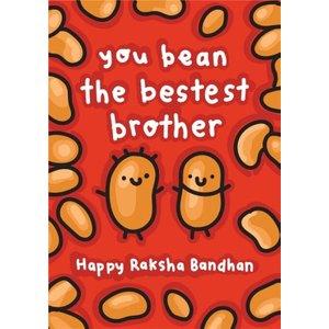 You Bean The Bestest Brother Raksha Bandhan Card, Standard Size By Moonpig Tpi046 St