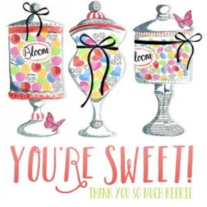 You're Sweet Candy Shop Personalised Thank You Card, Large Square Card Size By Moonpig Ljb023 Lg