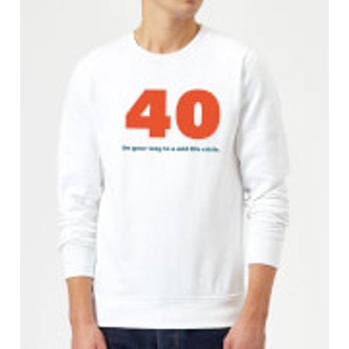By Iwoot 40 On Your Way To A Mid Life Crisis. Sweatshirt - White - Xxl - White Ms 28913 Ffffff Xxl, White