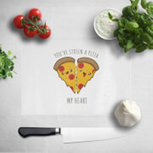 Kawaii A Pizza My Heart Chopping Board  Cb 1234 Ffffff