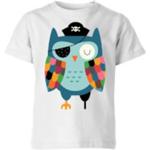 Andy Westface Captain Whooo Kids' T-shirt - White - 11-12 Years - White Yt 28689 Ffffff Yxl, White