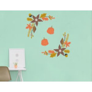 By Iwoot Autumn Leaves Frame Wall Art Sticker Pack  Wd 18735