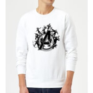 Marvel Avengers Endgame Hero Circle Sweatshirt - White - L - White Ms 13589 Ffffff L, White