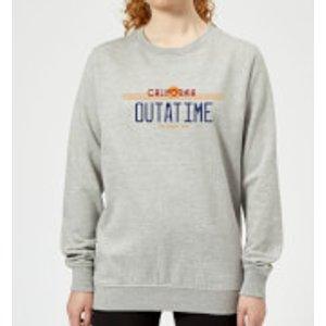 Back To The Future Outatime Plate Women's Sweatshirt - Grey - L - Grey Ws 2524 888888 L, Grey