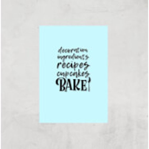 By Iwoot Baking Words Art Print - A2 - Print Only Multi Pr 2584 C9f9ff A2, Multi
