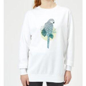 Barlena Parrot Women's Sweatshirt - White - 3xl - White Ws 9540 Ffffff 3xl, White