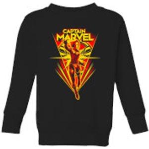 Captain Marvel Freefall Kids' Sweatshirt - Black - 7-8 Years - Black Ys 11038 000000 Ym, Black