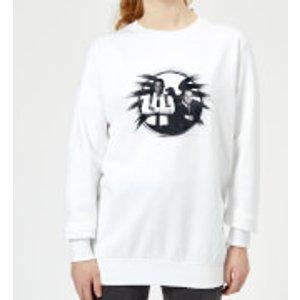 Captain Marvel Fury And Coulson S.h.i.e.l.d. Women's Sweatshirt - White - L - White Ws 12069 Ffffff L, White