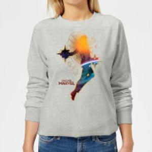 Captain Marvel Nebula Flight Women's Sweatshirt - Grey - Xs - Grey Ws 11056 888888 Xs, Grey
