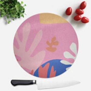 Calm/zen/yoga Colourful Abstract Round Chopping Board  Cbs 31094 Ffffff