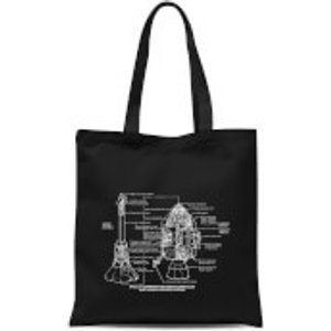 By Iwoot Command And Service Module Schematic Tote Bag - Black  Tb 16167 000000
