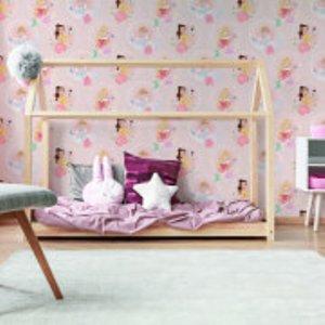 Disney Character Princess Pastel Pink Wallpaper Multi 108593, Multi