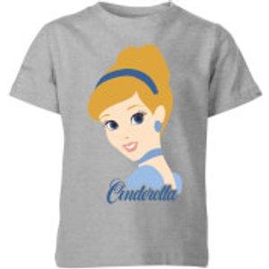 Disney Princess Colour Silhouette Cinderella Kids' T-shirt - Grey - 11-12 Years - Grey Yt 2230 888888 Yxl, Grey