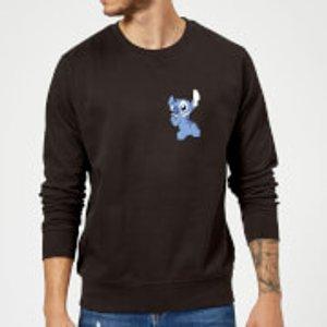 Disney Stitch Backside Sweatshirt - Black - L - Black Ms 12011 000000 L, Black