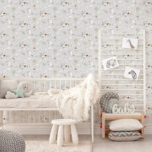 Disney Winnie The Pooh Character Up And Away Grey/white Wallpaper Multi 108594, Multi