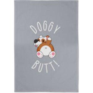 By Iwoot Doggy Butt Cotton Grey Tea Towel  Tt 24824 888888