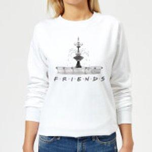 Friends Fountain Sketch Women's Sweatshirt - White - 5xl - White Ws 6161 Ffffff 5xl, White