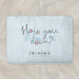 Friends How You Doin? Bath Mat  Bm 40318 Ffffff