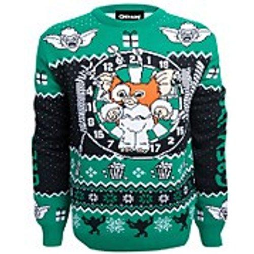 Own Brand Gremlins Stripe Christmas Knitted Jumper - Navy - S Blue Fbw20kn002