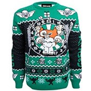 Own Brand Gremlins Stripe Christmas Knitted Jumper - Navy - S Blue Fbw20kn002, Blue