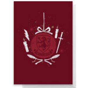 Harry Potter Gryffindor Christmas Greetings Card - Standard Card  Rc 39437 Ffffff A6