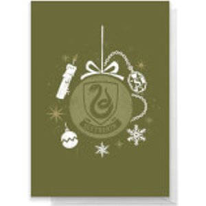 Harry Potter Slytherin Christmas Greetings Card - Large Card  Rc 39435 Ffffff A4