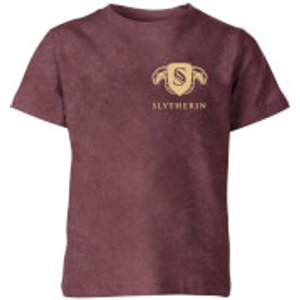 Harry Potter 2018 Harry Potter Slytherin Kids' T-shirt - Burgundy Acid Wash - 11-12 Years - Burgundy Acid Wa Yt 45229 773333 Yxl, Burgundy Acid Wash
