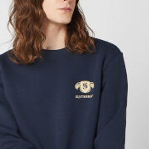 Harry Potter Slytherin Unisex Embroidered Sweatshirt - Navy - 5xl - Navy Ms 16455 263147 5xl, Navy