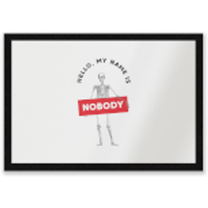 By Iwoot Hello, My Name Is Nobody Entrance Mat  Dm 8612 Ffffff