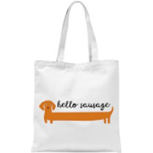 By Iwoot Hello Sausage Tote Bag - White  Tb 10690 Ffffff