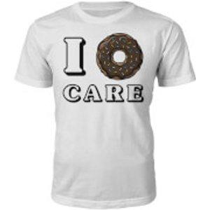 T Junkie I Donut Care Slogan T-shirt - White - S - White  S 1325134, White