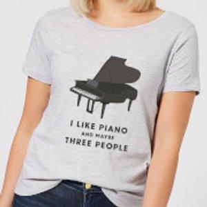 Music 2020 I Like Piano And Maybe Three People Women's T-shirt - Grey - S - Grey Wt 49063 888888 S, Grey