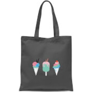 By Iwoot Ice Creams Tote Bag - Grey  Tb 5609 888888