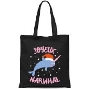 By Iwoot Joyeux Narwhal Tote Bag - Black  Tb 9212 000000