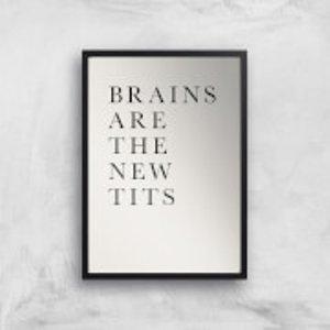 Kubistika Brains Are The New Tits Giclee Art Print - A2 - Black Frame  Pr 39913 Ebe9e0 A2bf
