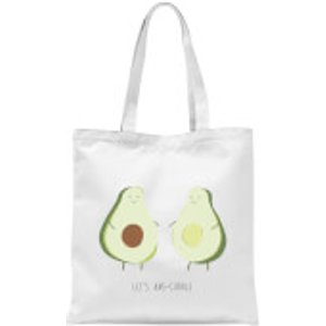By Iwoot Let's Avo-cuddle Tote Bag - White  Tb 10938 Ffffff