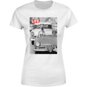 Life Magazine Dog In A Car Women's T-shirt - White - 3xl - White Wt 21072 Ffffff 3xl, White