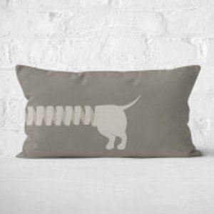 By Iwoot Long Sausage Dog Back Legs Rectangular Cushion - 30x50cm - Soft Touch  Cur 15698 30x50 St