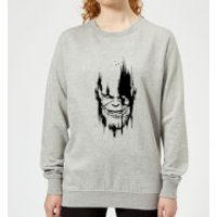 Marvel Avengers Infinity War Thanos Face Women's Sweatshirt - Grey - M - Grey Ws 3215 888888 M, Grey