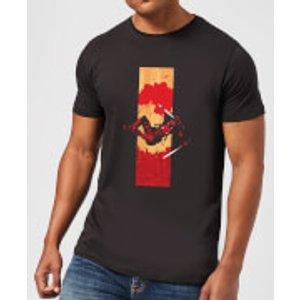 Marvel Deadpool Blood Strip Men's T-shirt - Black - M - Black Mt 4552 000000 M, Black