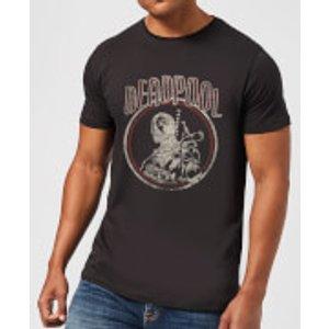 Marvel Deadpool Vintage Circle Men's T-shirt - Black - S - Black Mt 4549 000000 S, Black