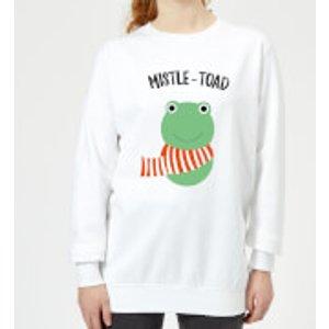 Mistle-toad Women's Christmas Sweatshirt - White - Xs - White Ws 9211 Ffffff Xs, White