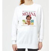 Disney Moana Born In The Ocean Women's Sweatshirt - White - Xs - White Ws 6413 Ffffff Xs, White