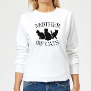 By Iwoot Mother Of Cats White Women's Sweatshirt - White - Xs - White Ws 2607 Ffffff Xs, White
