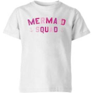 My Little Rascal Mermaid Squad Kids' T-shirt - White - 3-4 Years - White Yt 4264 Ffffff Yxs, White