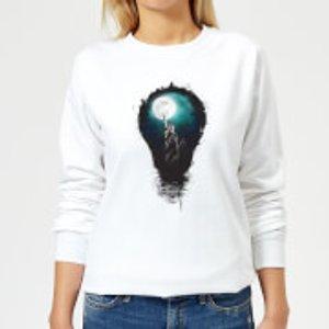 Balazs Solti Nyc Moon Women's Sweatshirt - White - M - White Ws 4893 Ffffff M, White