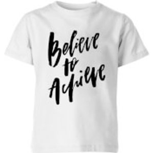 Planeta444 Believe To Achieve Kids' T-shirt - White - 11-12 Years - White Yt 6616 Ffffff Yxl, White